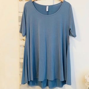 LULAROE NWT Modal Perfect Tee Tunic Top Solid Blue